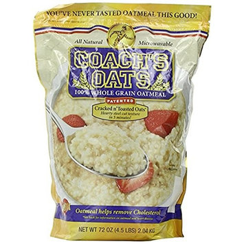 Coach's Oats 100% Whole Grain Oatmeal, Family. Value Size 2 Pack ( Total 9 lbs )