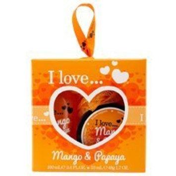 I Love... Mini Bubble Bath & Shower Creme Set (Mango & Papaya) by I Love Love