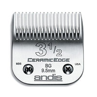 Andis CeramicEdge Carbon-Infused Steel Clipper Blade, Size-3-1/2, Includes A Bonus BeauWis Blade Brush
