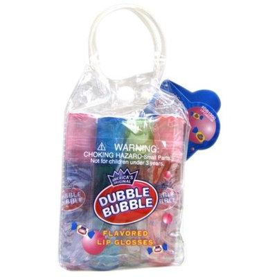 Dubble Bubble 12 Pieces Roll-On Flavored Lip Gloss Set, (Sour Cherry, Apple, Cotton Candy, Pink Lemonade, Original, Blue Razz, Watermellon)