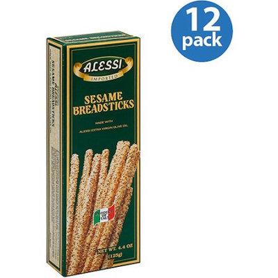 Alessi Sesame Breadsticks, 4.4 oz, (Pack of 12)