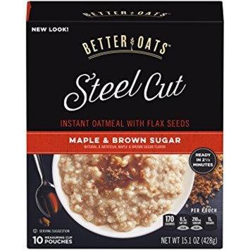 Better Oats Steel Cut MAPLE & BROWN SUGAR Instant Oatmeal