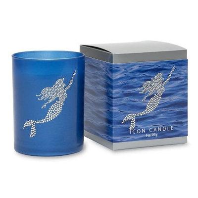 Primal Elements CIBMER Mermaid 9.5 oz. Icon Candle In Blue Glass