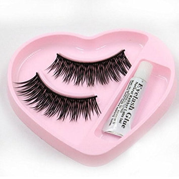 Leoy88 1 pair Natural Long Thick False Eyelashes for Women Girls Makeup