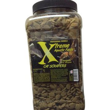 Xtreme Aquatic Foods Cat Scrapers 9-10mm Algae Scraping Disc, Green Pea Based, Fast Sinking, 64 oz
