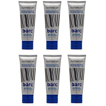 Barc Cutting Up, Unscented Shave Cream, 2 Oz (Pack of 6) + Makeup Blender