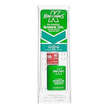 King of Shaves Alphaoil Shave Oil Cooling Menthol Sensitive Skin, 0.5 Oz (Pac.