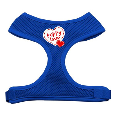 Mirage Pet Products 7032 SMBL Puppy Love Soft Mesh Harnesses Blue Small