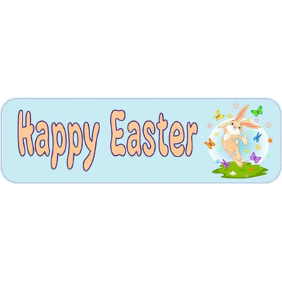 10'x3' Happy Easter Vinyl Bumper magnet Decal Car magnetic magnets Decals