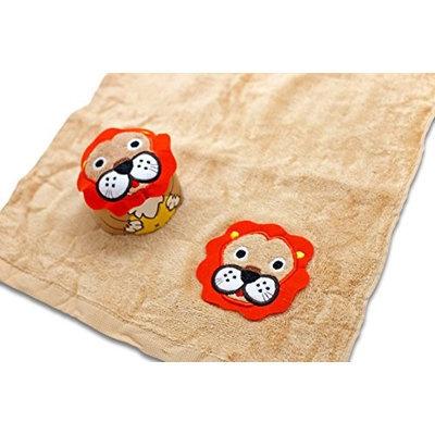 Couture Towel CT-TPLK001501 14 x 13 in. Leonardo The Lion King Towel Orange & Brown Multicolor
