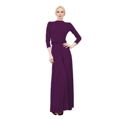 VON VONNI Women's Violet Metallic Victoria Long Sleeve Transformer Dress NWT