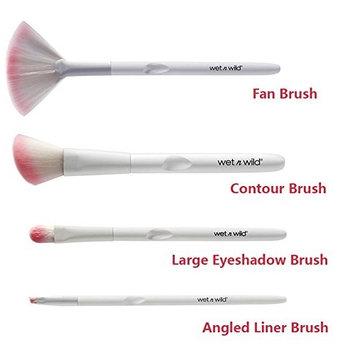 Wet n Wild White & Pink 4-pc Brush Bundle set