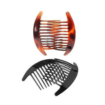 France Luxe Belle Interlocking Comb Pair - Tortoise