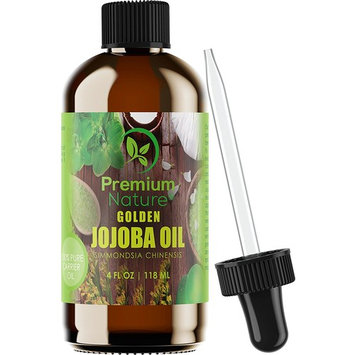 Jojoba Oil Pure Cold Pressed - Unrefined Natural Carrier Oil For Essential Oils Mixing, Facial Moisturizer & Cleaner, Nail & Hair Growth, Massage Body...