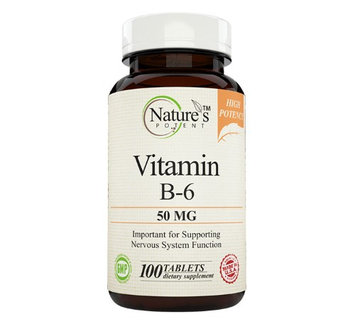 Nature's Potent - Vitamin B-6 50 Mg, 100 Tablets
