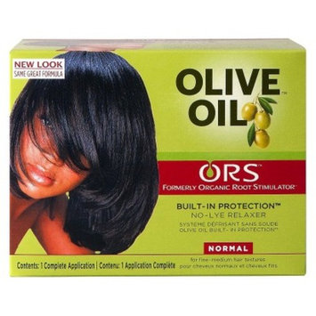 Organic Root Stimulator Olive Oil No-Lye Relaxer, Normal Hair - 1 Application (3-Pack)