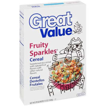 Great Value: Fruity Sparkles Cereal, 13 Oz