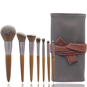 Makeup Brush Set, 7 PC Makeup Brush Set Foundation Liquid Eye Shadow Makeup Brush Cosmetic Soft Synthetic Hair Leather Packaging