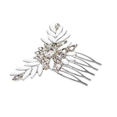 MonkeyJack Bridal Rhinestone Crystal Wedding Hair Comb Clip Flower Hair Accessories