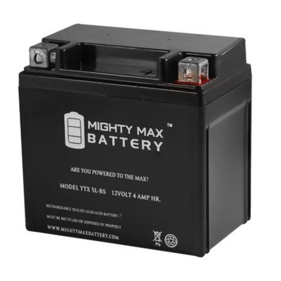 YTX5L-BS Replacement for Adventure Power YTX5L-B 12VX5L-B Battery