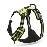 Chai's Choice Best Outdoor Adventure Dog Harness. 3M Reflective Vest Two Leash Attachments. Caution - Please Measure Dog Before Ordering! Matching Leash Collar Available