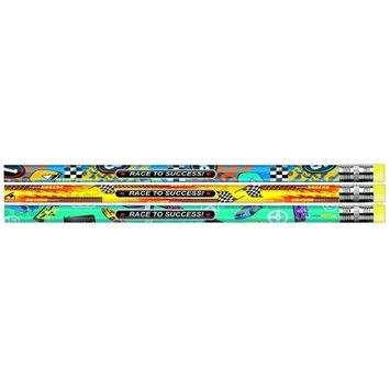 J.R. Moon Pencil JRM52064BBN Race To Success Assortment Pencil - 12 Dozen