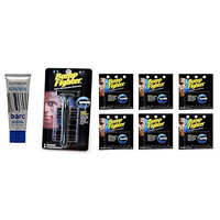 Barc Cutting Up, Unscented Shave Cream, 2 Oz + Bump Fighter Razor for Men + Bump Fighter Cartridge Refill, 5 Ct (Pack of 6) + Makeup Blender