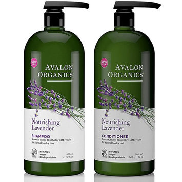 Avalon Organics Shampoo and Conditioner Set, Nourishing Lavender, 32 Fluid Ounce