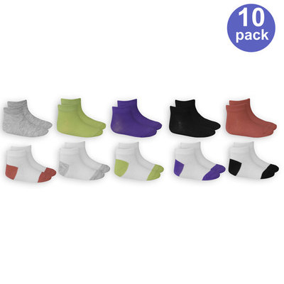 BabyToddler Girl Everyday Ankle Socks, 10-pack