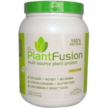 PlantFusion Complete Plant Based Protein Powder, Vanilla Bean, 1 Lb Tub, 15 Servings, 1 Count, Gluten Free, Vegan, Non-GMO, Packaging May Vary [Vanilla Bean]