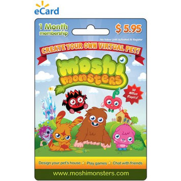 Incomm Mind Candy Moshi Monsters 1 month Game eCard $5.95 (Email Delivery)