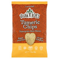 Vegan Rob's Veganrobs, Chip Rice Tumeric, 3.5 Oz (Pack Of 12)