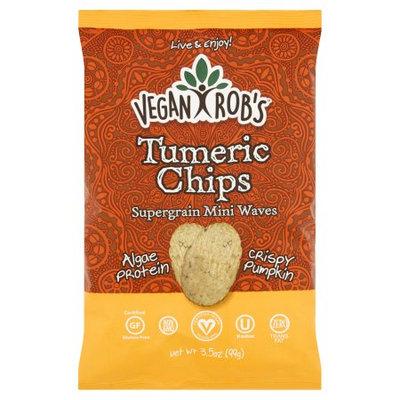 Vegan Rob's Veganrobs, Chip Rice Tumeric, 3.5 Oz (Pack Of 12)