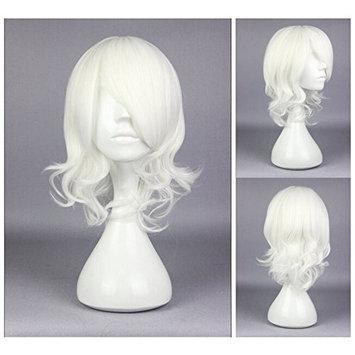 Kadiya Anime White Short Girls Cosplay Wigs Synthetic Hairs