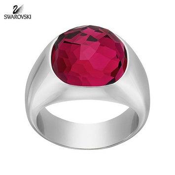 Swarovski Ruby Red Crystal DOT RING Rhodium Plated (Medium/55/7) #5160888