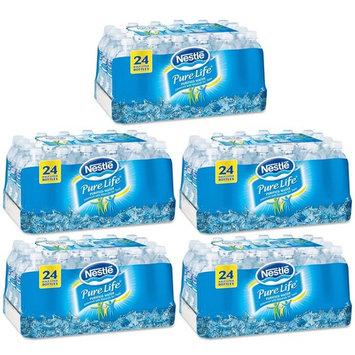 Nestlé Pure Life Bottled Purified Water, 16.9 oz. Bottles, 5 Cases (24 Bottles)