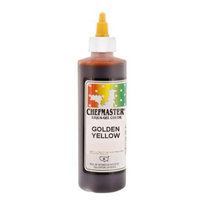 Chefmaster by US Cake Supply 10.5oz Golden Yellow Liqua-Gel Cake Food Coloring
