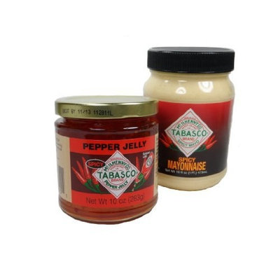 Tabasco Spicy Mayonnaise 16 Oz and Tabasco Pepper Jelly 10 Oz
