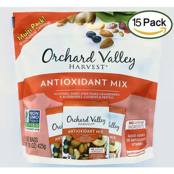 Orchard Valley Harvest Snack Packs -Antioxidant Mix Multi Pack, Non-GMO Project Verified, No Artificial Ingredients, 15 ounces (15 Individual Packs)