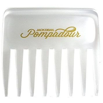 Jack Dean Pompadour Streaker Comb - 4 Colours - Black, Clear, Red or White (Clear) by Jack Dean
