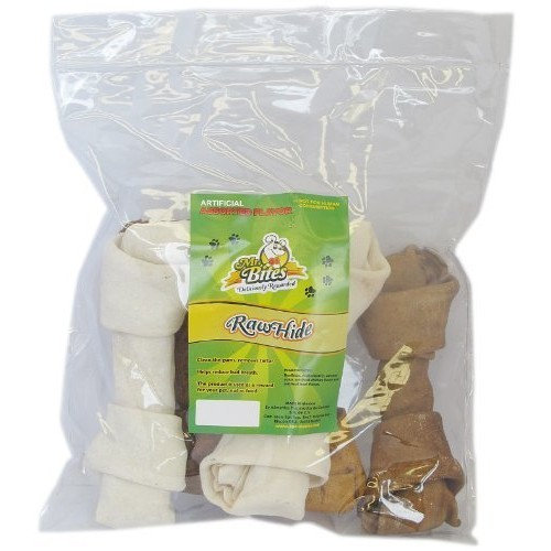 Mr Bites 7-Inch Rawhide Bone for Dogs, Assorted Flavor, 5-Pack