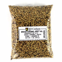 Briess Grain U.S. Brewers Malt for Beer Making & Home Brewing 1 LB (Caramel 40L)