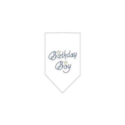 Ahi Birthday Boy Rhinestone Bandana White Large
