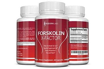 Reborn Labs FORSKOLIN X-FACTOR Super-Strength Forskolin Extract 60-DAY SUPPLY Strong Fat Burner Appetite