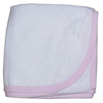 Bambini Layette Pink & White Ladybug Hooded Towel