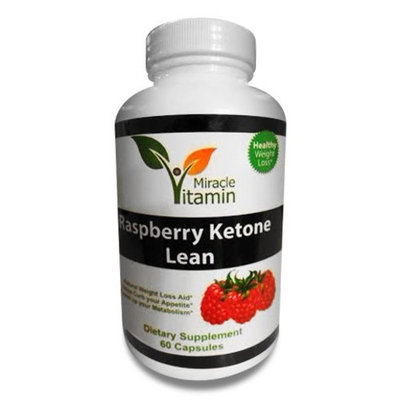 Miracle Vitamin Raspberry Ketones Plus+ Weight Loss Supplement and Appetite Suppressant