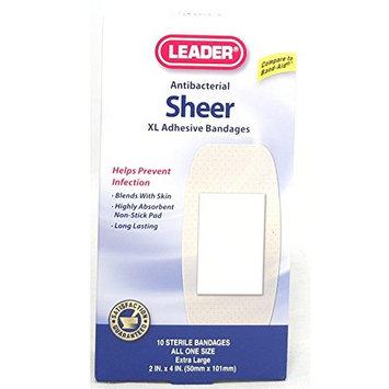 Leader Sheer Adhesive XL Bandages, 10 Count Per Box