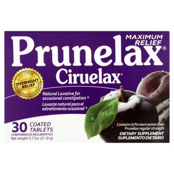 Prunelax Maximum Relief Dietary Supplement, 30 count
