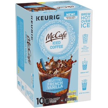 McCafe Brew Over Ice Unsweetened French Vanilla Iced Coffee K-Cup Pods 10 ct Box