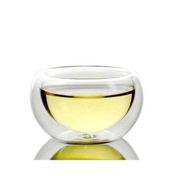 Moyishi Double Walled Clear Glass Borosilicate Tea/Espresso Cup (Set of 6)